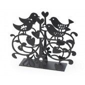 Napkin holders Love birds black