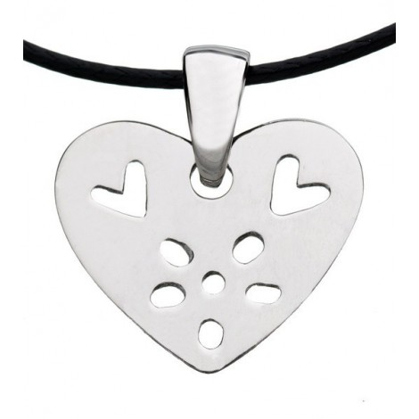 Necklace Flower Heart silver