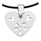 Přívěsek Flower Heart silver