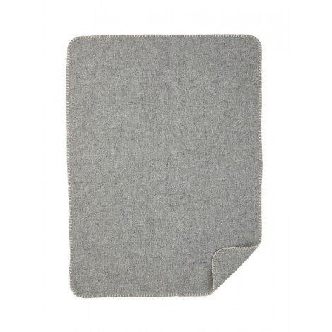 Soft Wool Baby blanket grey