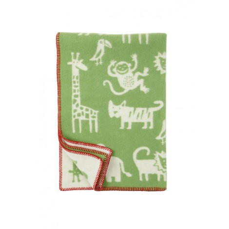 Wool Baby blanket Jungle green