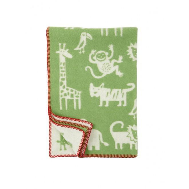 Wool Baby blanket Jungle green