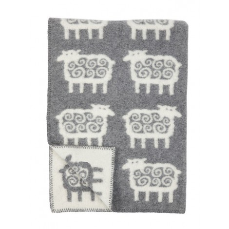Wool Baby blanket Sheep grey
