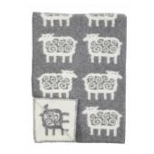 Wool Baby blanket Sheep grey
