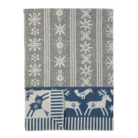 Wool blanket Lappland blue