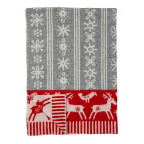 Wool blanket Lappland red