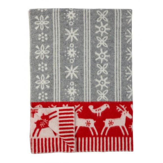 Wool blanket Lappland red