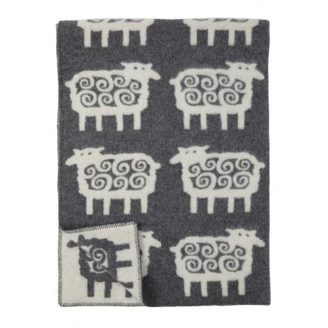 Wool blanket Sheep grey