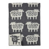 Wool blanket Sheep grey