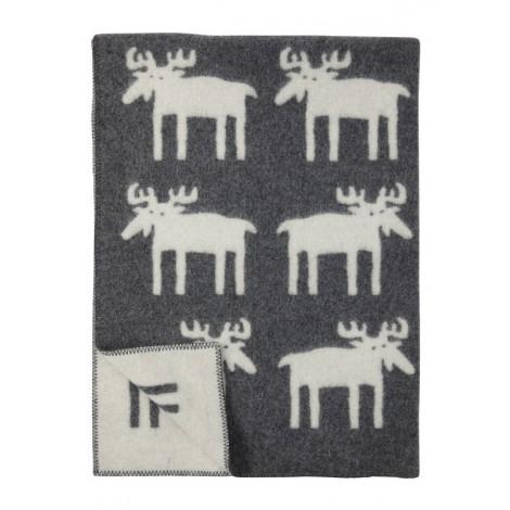Wool blanket Moose grey