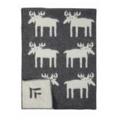 Vlněná deka Moose grey
