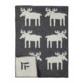 Wool blanket Moose grey