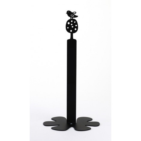 Kitchen paper roll holder Bird black