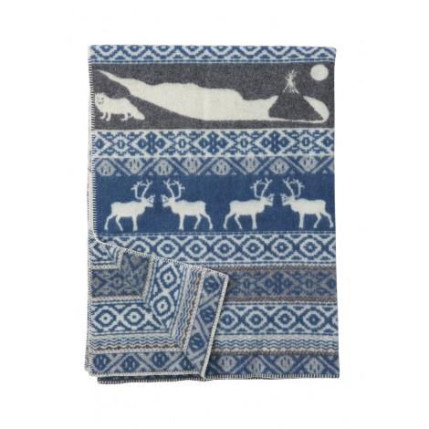 Vlněná deka Sarek blue