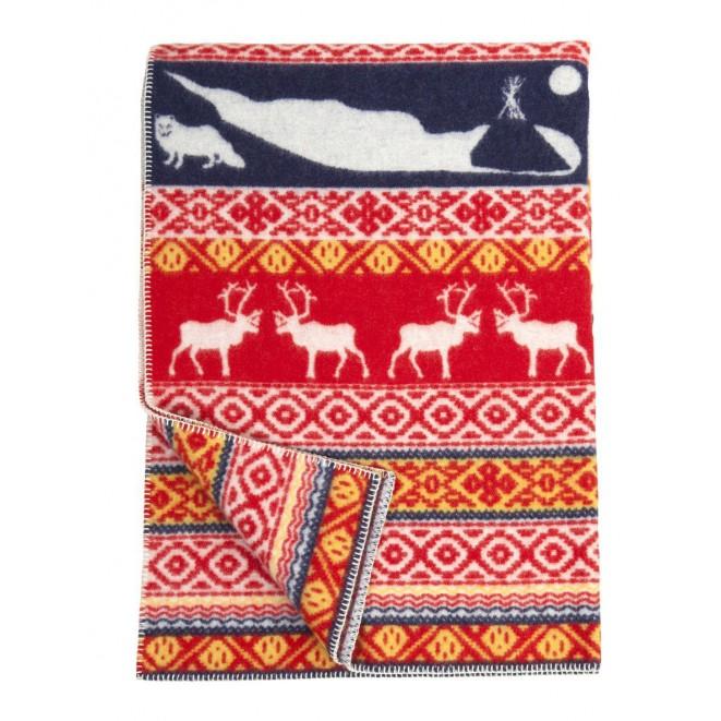 Wool blanket Sarek multi