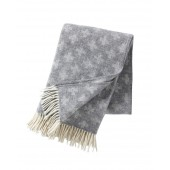 Wool throw Cross light grey