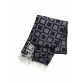 Wool throw Frame black