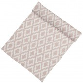 Linen table runner Diamonds pale pink