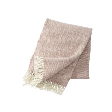 Wool throw Stela nude pink