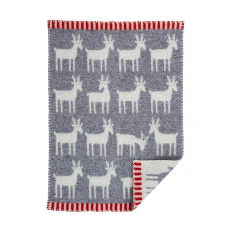 Wool Baby blanket Deer grey