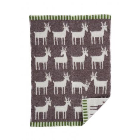 Wool Baby blanket Deer barque