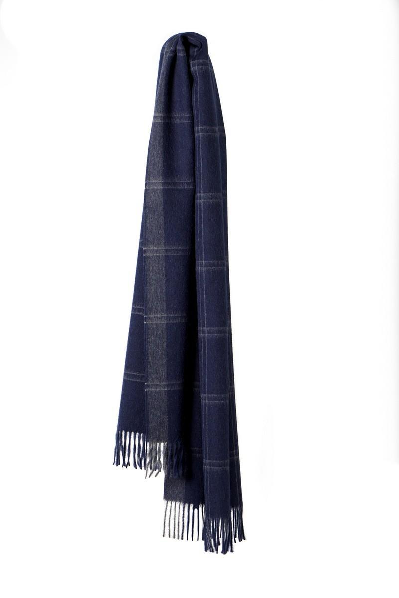 Šála Stockholm navy (100% baby alpaca wool) - GET INSPIRED cc0dcad567