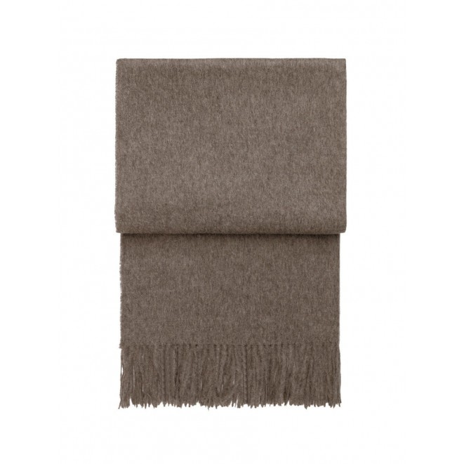 Wool throw Classic mocca