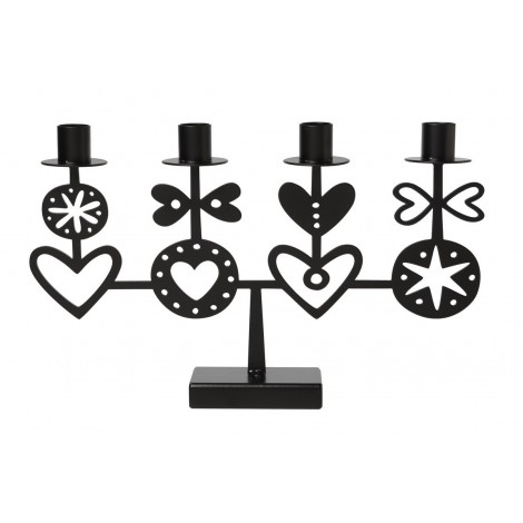 Advent candle holder Hearts 4