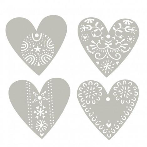 Sada závěsných dekorací Hearts