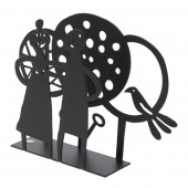 Napkin holders Couple & Trees black