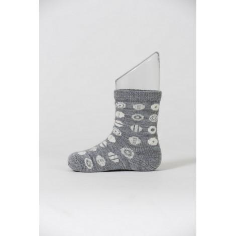 Dětské merino ponožky Candy grey