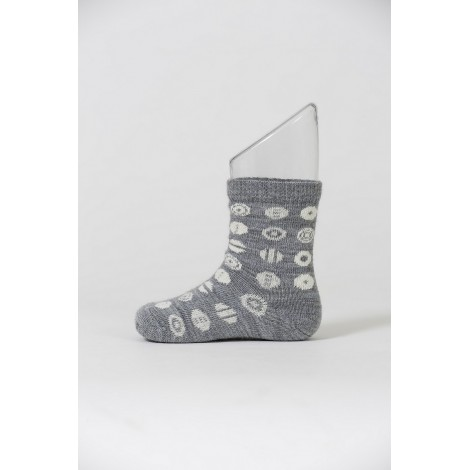 Kids merino socks Candy grey
