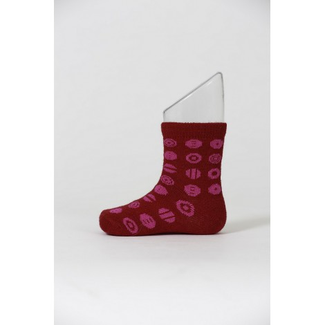 Kids merino socks Candy red