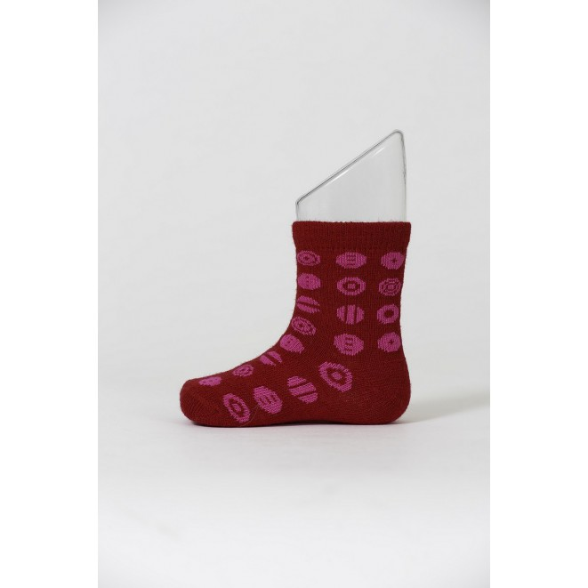 Kids merino socks Candy red