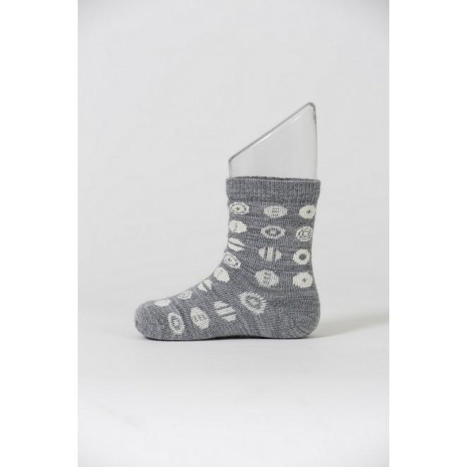 Baby merino socks Candy grey