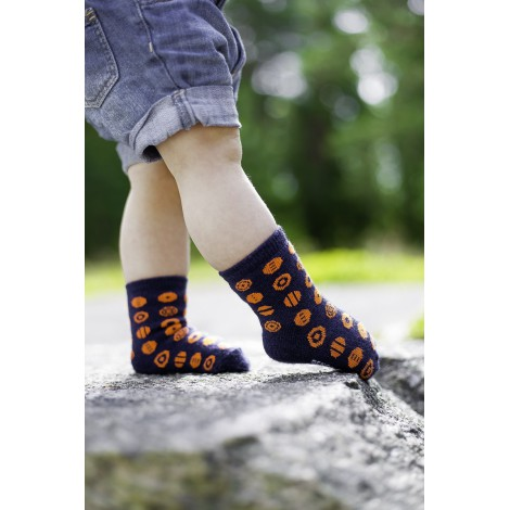 Kids merino socks Candy navy