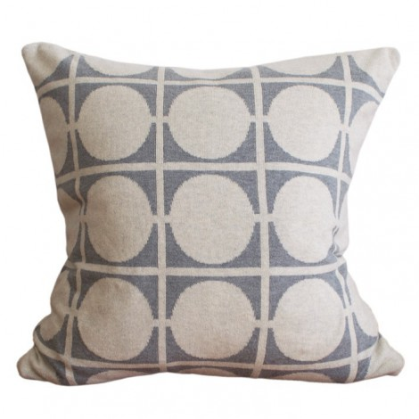 Knitted cushion cover Don light grey