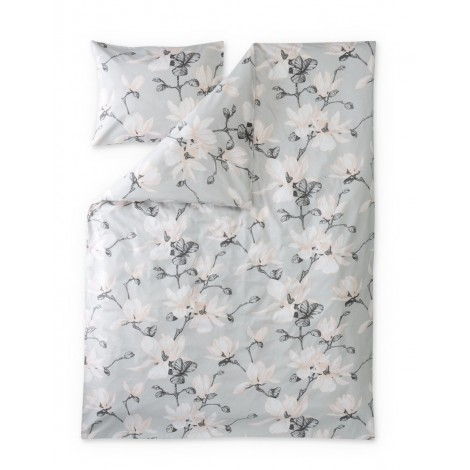 Satin bed linen Magnolia grey rose
