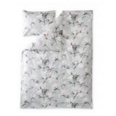 Satin bed linen Magnolia grey rose