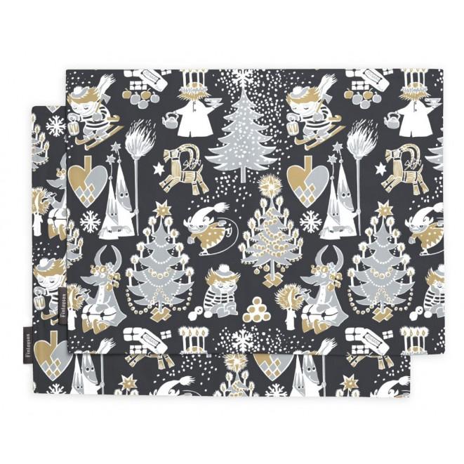 Prostírání Christmas Moomin black