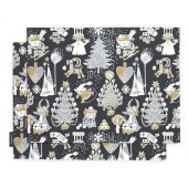 Table mats Christmas Moomin black