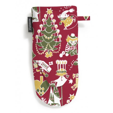 Oven glove Christmas Moomin red