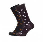 Merino wool socks Dots orange