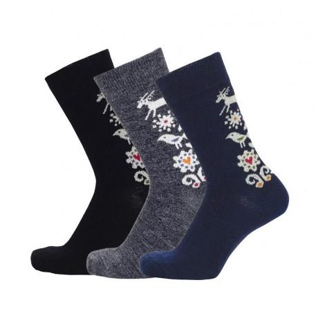 Ponožky merino Birds blue