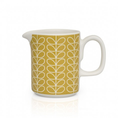 Milk jug Linear Stem yellow