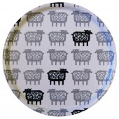 Round tray Black Sheep