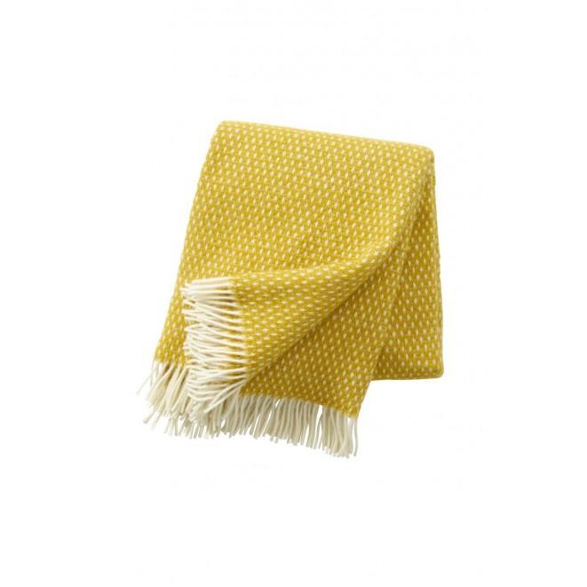 Wool throw Knut saffron