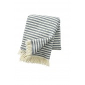 Wool throw Olle smokey blue