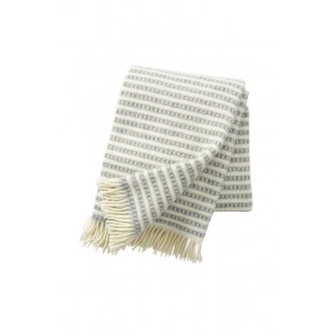 Wool throw Olle light grey