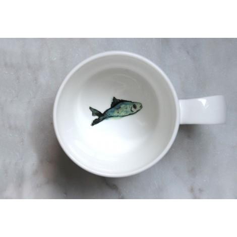 Porcelánový hrnek Fishy Friends inside
